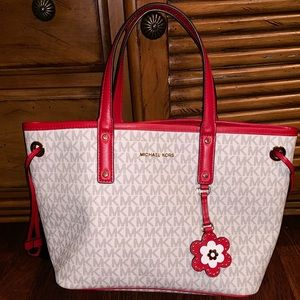 Michael Kora purse white & Red